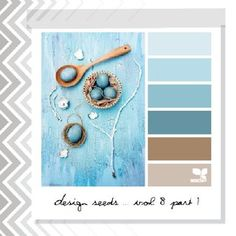 Living room/ kitchen Taupe walls and use the blues as accents.