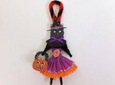HALLOWEEN witch kitty CAT girl