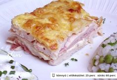 Rakott csirkemell 4. - tejszínes-sonkás Sugar Free Diet, Hungarian Recipes, Hungarian Food, Cook At Home, Main Meals, Food Hacks, Food To Make, Food And Drink, Cooking Recipes