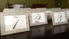 be3fd09db116 Set of 10 Silver Rhinestone 5 x 7 Photo Frames and 10 Table Numbers- Wedding  or Special Event