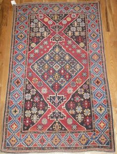 Antique Caucasian Shirvan Rug, 5.4 x 3.3 ft, 19th Century