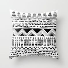 black and white Moroccan design