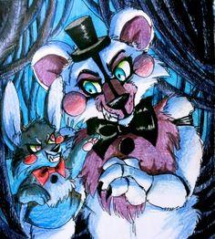 Intrigue / Funtime Freddy and Bonnie puppet FNaF by Mizuki-T-A