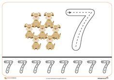 16grafomotricidad numeros | El Portal de Educapeques Math For Kids, Science Experiments, Kids Learning, Worksheets, Literacy, Coloring Pages, Symbols, Education, Portal
