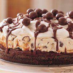 Chocolate Malt Ice-Cream Cake @keyingredient #cake #chocolate