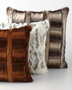 Faux-Fur+Pillows+&+Bed+Shams+by+Sweet+Dreams+at+Neiman+Marcus.