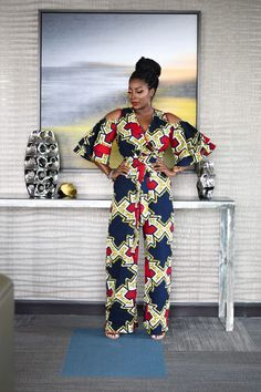 Rock the Latest Ankara Jumpsuit Styles these ankara jumpsuit styles and designs are the classiest in the fashion world today. try these Latest Ankara Jumpsuit Styles 2018 Ankara Styles For Women, African Dresses For Women, African Print Dresses, African Attire, African Wear, African Fashion Dresses, Fashion Outfits, African Style, African Ankara Styles