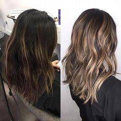 6 Things you need to know about Balayage Highlights – Stylish Hairstyles Dark Hair With Highlights, Ombre On Dark Hair, Balayage On Dark Hair, Ash Blonde Highlights On Dark Hair, Short Balayage, Color Highlights, Bayalage, Hair Colorist, Haircolor