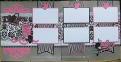 close to my heart scrapbooks | CTMH 'For Always' Pink and Black Layout