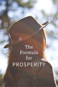 The Formula for Prosperity