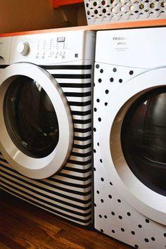 Elettrodomestici | Dare un pò di allegria all'area lavanderia utilizzando i washi tape !