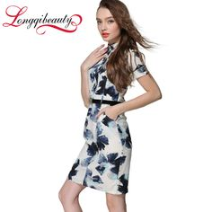 Women Summer Belt Cotton Sundresses Casual Short Sleeve Floral Print Bodycon Knee Length Celebrity Vintage Pinup Dress