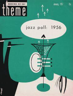 Theme magazine, January 1957, cover design by John Brandt