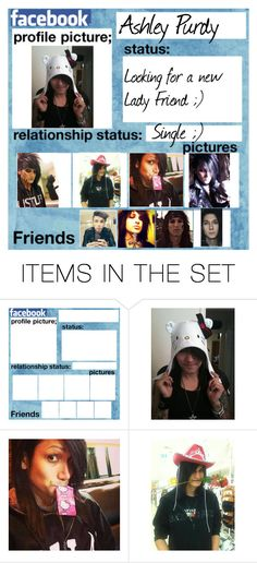 """""""Ashley Purdy's Facebook"""" by alice-the-skatergirl ❤ liked on Polyvore featuring art"""
