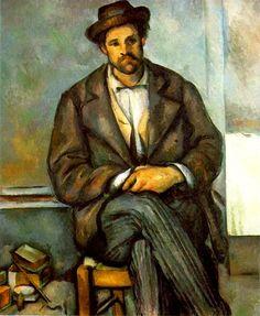 Campesino sentado  Paul Cézanne Apoyando a nuestros campesinos desde Pinterest, y desde el arte!!