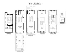 Floor plan loft in noho new york city lofts for Bachelor pad house plans