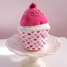 Pink Heart mini-cup cake purse - All Things Cupcake