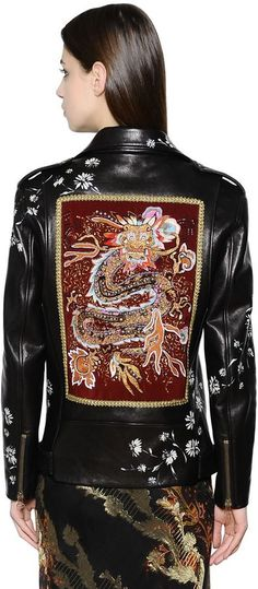 Hand-Painted & Embroidery Leather Jacket