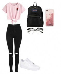 Pin by crystal serrano on casual outfits for teens ropa juvenil femenina mo Tween Trendy Clothes, Casual Outfits For Teens, Cute Teen Outfits, Teenage Girl Outfits, Cute Comfy Outfits, Girls Fashion Clothes, Teenager Outfits, Teen Fashion Outfits, Swag Outfits