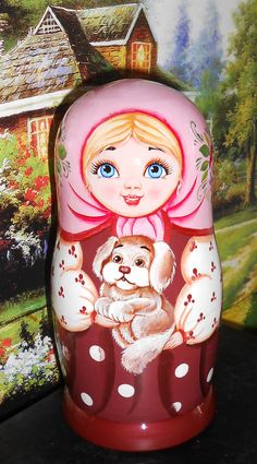 Nesting dolls matryoshka in russian folk style by Artworkshop1, $69.00Matryoshka Dolls / Nesting Dolls : More Pins Like This At FOSTERGINGER @ Pinterest