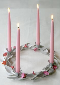 Valentine's Day Candle Centerpiece - Oh Happy Day!