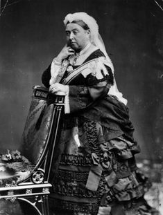 After she was widowed in 1861, Queen Victoria largely withdrew from the public eye. She dressed in mourning black for the rest of her life and the Royal Household became a sombre place, with Buckingham Palace shut up for most of the year.  This picture, 1863.