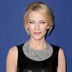 Cate Blanchett wears Tiffany Blue Book diamond bib