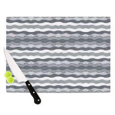 "Empire Ruhl ""51 Shades of Gray"" Gray White Cutting Board | KESS InHouse"