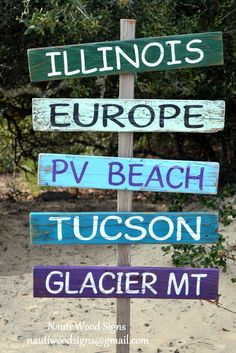 Outdoor Stake Post Sign Directional Pallet Arrow Yard Decor Graduation Summer Pool Party City Miles Places
