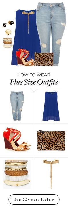 """my plus size summer blue style/night out"" by kristie-payne on Polyvore featuring Manon Baptiste, Eugenia Kim, River Island, Clare V., Eddie Borgo, Chico's, Madyha Farooqui and Trina Turk"