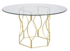 Worlds Away Abigail Gold Leaf Dining Table