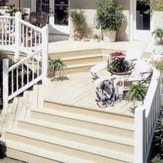 This post explores lots of different ideas for what your garden deck could look like - from classic wood finishes to bright colour and quirky ideas! Deck Stain Colors, Deck Colors, Colours, Backyard Projects, Outdoor Projects, Backyard Ideas, Outdoor Wood Stain, Hot Tub Deck, Outdoor Spaces
