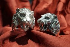 Lions Rings in silver, available also in Gold 18 kt - Dogale Jewellery venice Italia