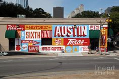 Welcome To Historic Sixth Street Is A Famous Mural Located At 6t Photograph by Herronstock Prints