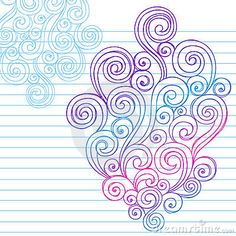 Hand-Drawn Abstract Sketchy Swirl Doodles by Blue67, via Dreamstime