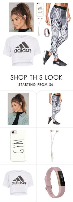 """Workout mornings 😍"" by gracenickel ❤ liked on Polyvore featuring NA-KD, Under Armour, Casetify, Sudio, Topshop and Fitbit"