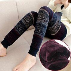 Womens Fleeced Lined Warm Winter Fur and Print Leggings - Fresh Fit Soul - Premium Leggings for Under $21