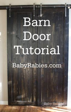 Not that I'll ever build this (or anything) ... How To Build Barn Doors