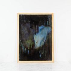 Viaje a las tinieblas, pintura abstracta original de Cèlia Izquierdo   Antic&Chic