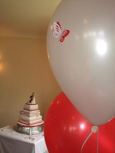 3D Butterfly placed on balloon. www.SignatureBalloons.co.uk
