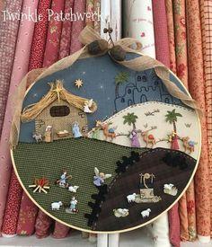 Christmas Gifts To Make, Christmas Rock, Christmas Nativity, Christmas Ornaments, Christmas Patchwork, Christmas Embroidery, Christmas Crafts, Christmas Decorations, Holiday Decor