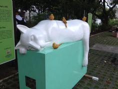 La gata dormida - aquí y allá Artista: Adriana Arenas Ilian
