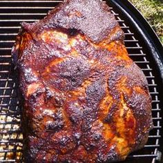"""Bob's Pulled Pork on a Smoker 