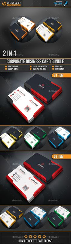 Business Card Bundle Templates PSD. Download here: http://graphicriver.net/item/business-card-bundle/16582533?ref=ksioks