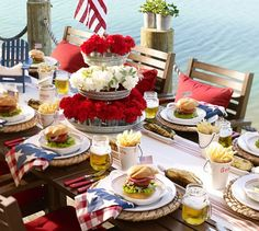 Picture only, table setting and food serving idea.