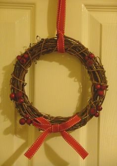 Shabby Chic Nordic Christmas Wreath by Welsheggdesigns on Etsy, £6.50