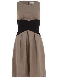Taupe cross waist  dress