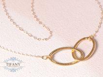 endless love - 14k vergoldete Halskette