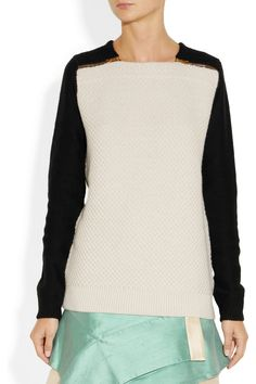 Proenza Schouler Merino wool and cotton-blend waffle-knit sweater