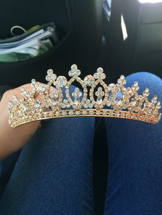 Gold Sweet Sixteen/Quinceanera tiara.